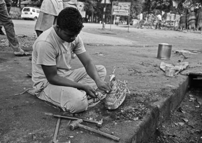 Orissa, Indie, Ilford PAN 100 D76, metal workshop