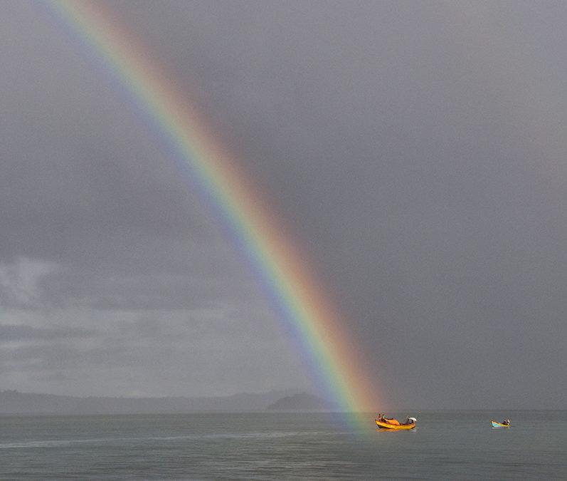 Skąd siębiorą kolorowe łodzie