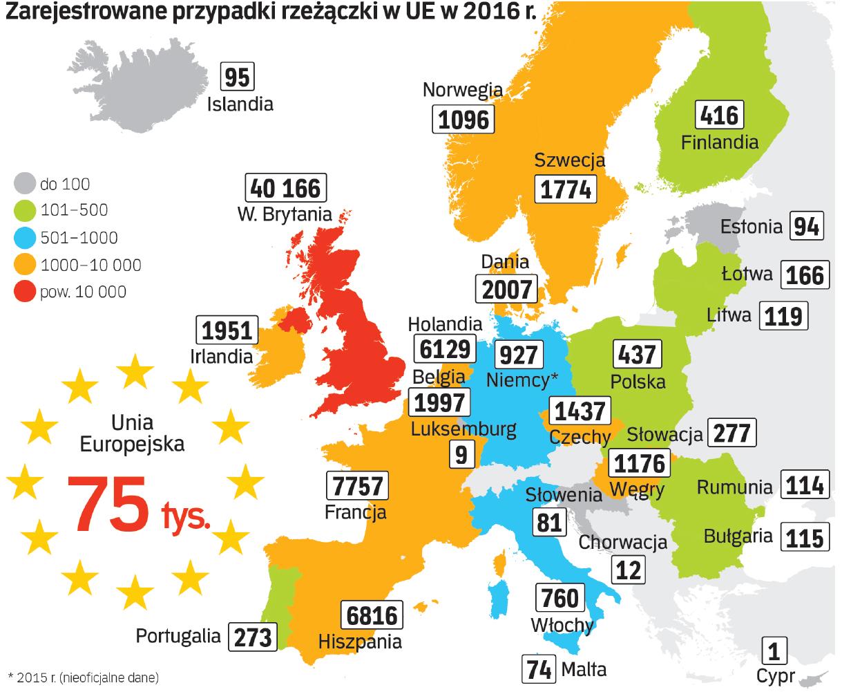 Występowania rzeżączki w UE